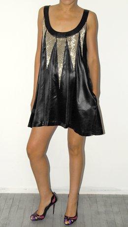 Sass and Bide Black Silver Beading Cocktail Dress
