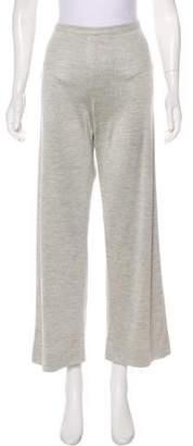 Hermes Silk High-Rise Pants