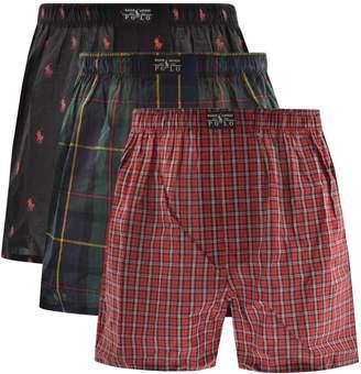 Ralph Lauren Underwear 3 Pack Boxer Black