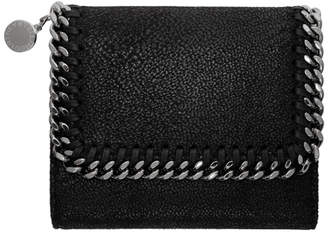 Stella McCartney Black Small Falabella Flap Wallet
