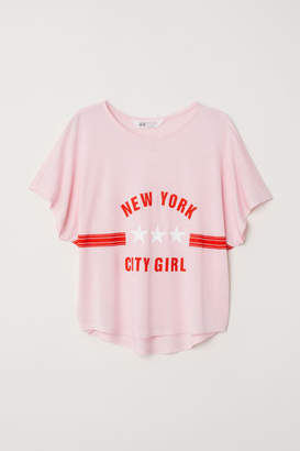 H&M Wide-cut Top - Pink