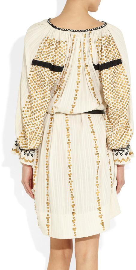 Isabel Marant Joane sequined cotton dress