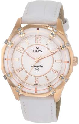 Bulova Women's 98R150 Solano Marine Star Leather strap Watch