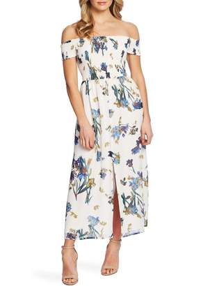 Cynthia Steffe CeCe by Off the Shoulder Floral Maxi Dress