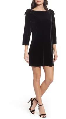 French Connection Aurore Velvet Shift Dress