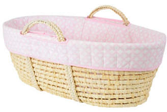 KIDICOMFORT Diamond Lullaby Wicker Bassinet