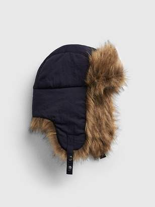 Gap Faux-Fur Trim Trapper Hat