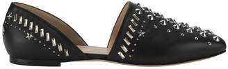 Jimmy Choo Globe Silver Stud Leather Flats