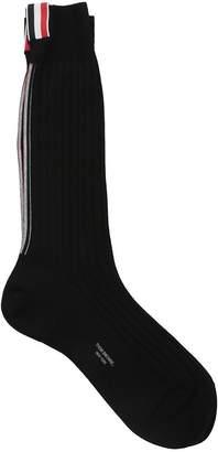 Thom Browne Black Cotton Socks