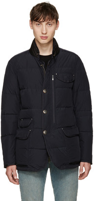 Parajumpers Black Down Blazer Jacket $645 thestylecure.com