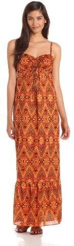 Anne Klein Women's Ikat Print Maxi Dress