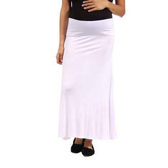 24/7 Comfort Apparel Maxi Skirt-Plus Maternity