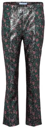 Prada Brocade cropped trousers