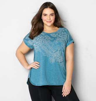 Avenue Paisley Applique Active Top