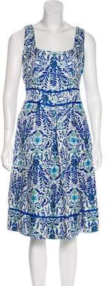 Tory Burch Floral Print Midi Dress
