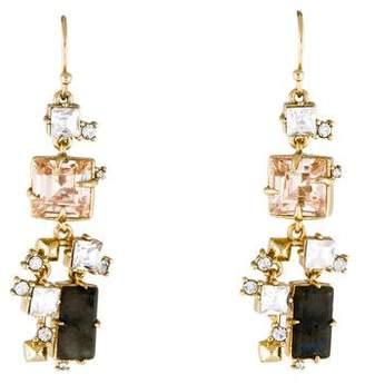Alexis Bittar Labradorite & Crystal Geometric Drop Earrings