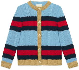 Gucci Children's wool cardigan with Web