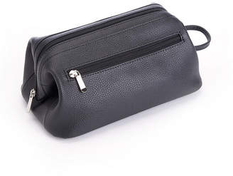 Royce Leather Royce Toiletry Travel Wash Bag in Pebbled Genuine Leather