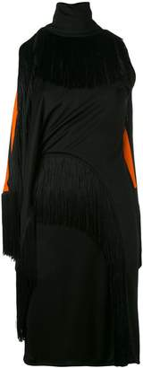 Givenchy fringed trim fitted dress
