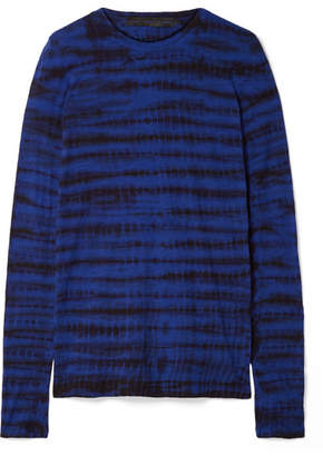 Proenza Schouler Tie-dyed Cotton-jersey Top - Bright blue
