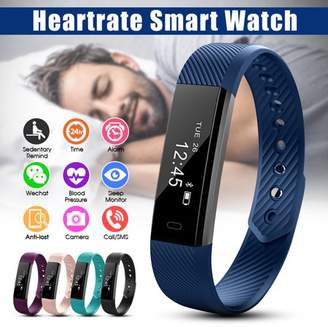 Generic ID115 Waterproof OLED Screen Fitness Sports Bluetooth Smart Watch Bracelet Band Sleep Heart Rate Monitor,Smart Alarm, Call and Message Reminder Christmas Gift
