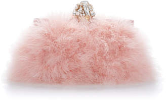 Dolce & Gabbana Crystal-Embellished Feather Clutch $3,375 thestylecure.com