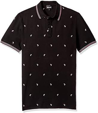 Just Cavalli Men's Pink Palm Tree Polo Shirt