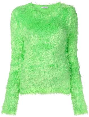 Balenciaga fitted fluffy sweater