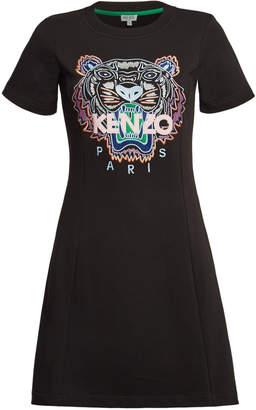 Kenzo Cotton Short Sleeve Sweatshirt Dress
