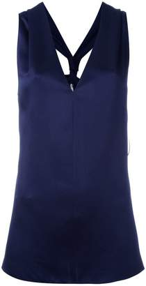Lanvin racerback sleeveless blouse