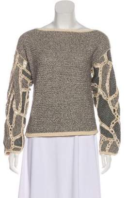 Maiyet Bateau Neck Long Sleeve Top