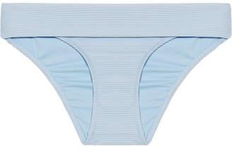 Heidi Klein Hvar Fold-over Ribbed Bikini Briefs - Sky blue