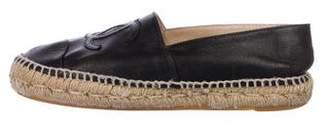 Chanel CC Leather Espadrilles