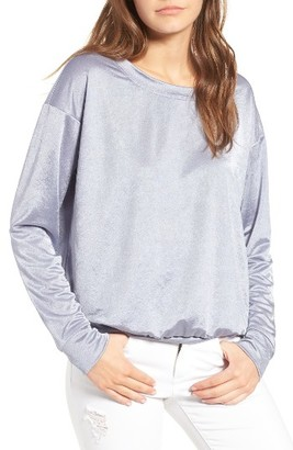 Women's Socialite Metallic Pullover $45 thestylecure.com