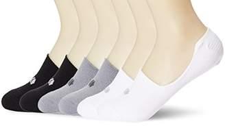 Kold Feet Visual Athletic Women's 6 Pairs No Show Socks Size M BlackWhiteGray
