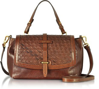 The Bridge Salinger Woven Leather Medium Satchel Bag