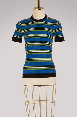 Courreges Striped knit top