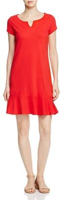 Three Dots Short Sleeve Flounce Dress $88 thestylecure.com