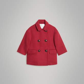 Burberry Childrens Double-faced Wool Pea Coat
