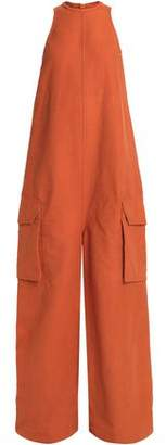 Rick Owens Oversized Cotton And Silk-Blend Jumpsuit