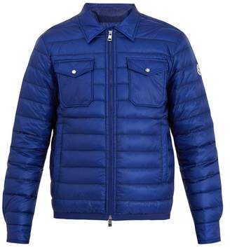 Moncler Terence Quilted Down Jacket - Mens - Blue