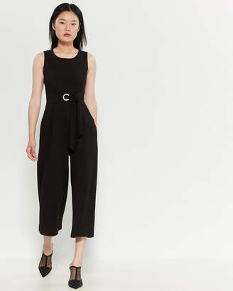 Romeo & Juliet Couture Romeo + Juliet Couture Textured Tie-Waist Jumpsuit