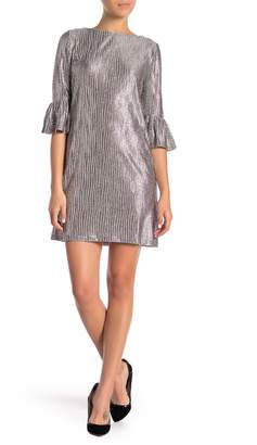 London Times Printed Sequin Knit Shift Dress (Petite)