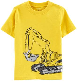 Carter's Toddler Boy Construction Truck Digger Graphic Tee