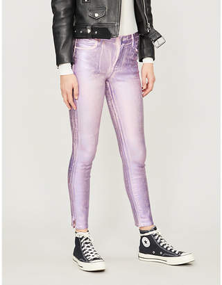 J Brand Alana coated skinny high-rise jeans