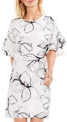 Vince Camuto Tiered Ruffle Fresco Petals Dress