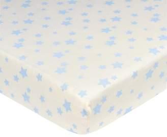 Gerber Newborn Baby Boy Organic Cotton Crib Sheet, Stars