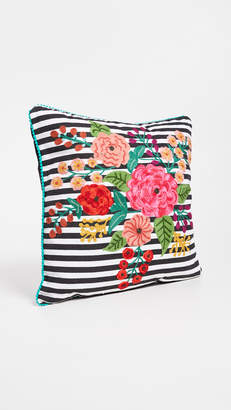 Gift Boutique Striped Floral Pillow