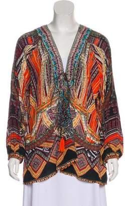 Camilla Long Sleeve Silk Top