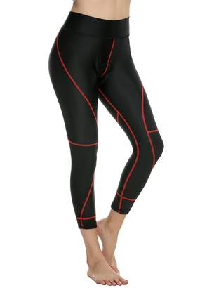 Ekouaer Women's 3D Gel Padded Compression Cycling Pants Bicycle Tights